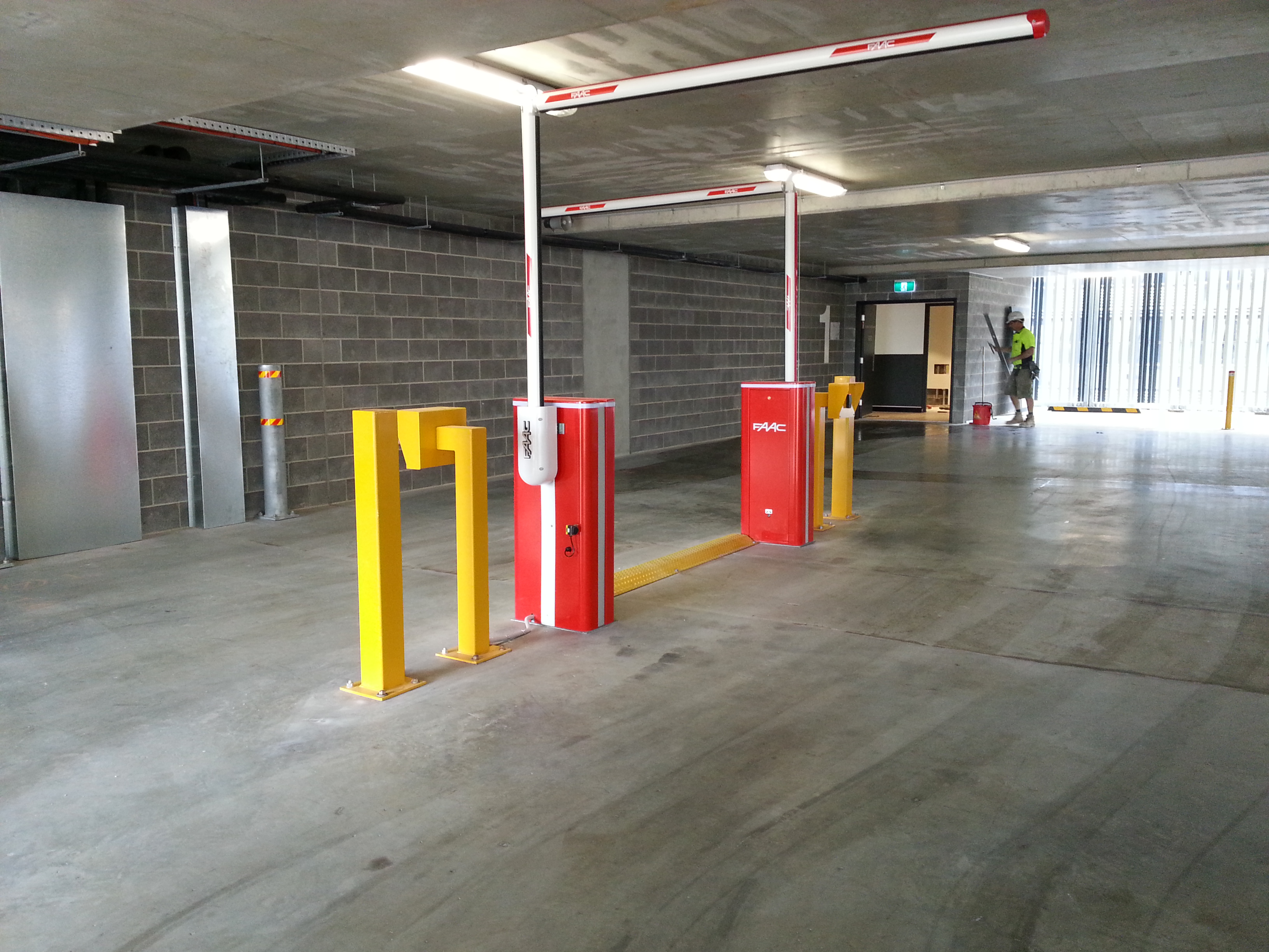 entry, exit boom gates with access control system – nexus 3 business