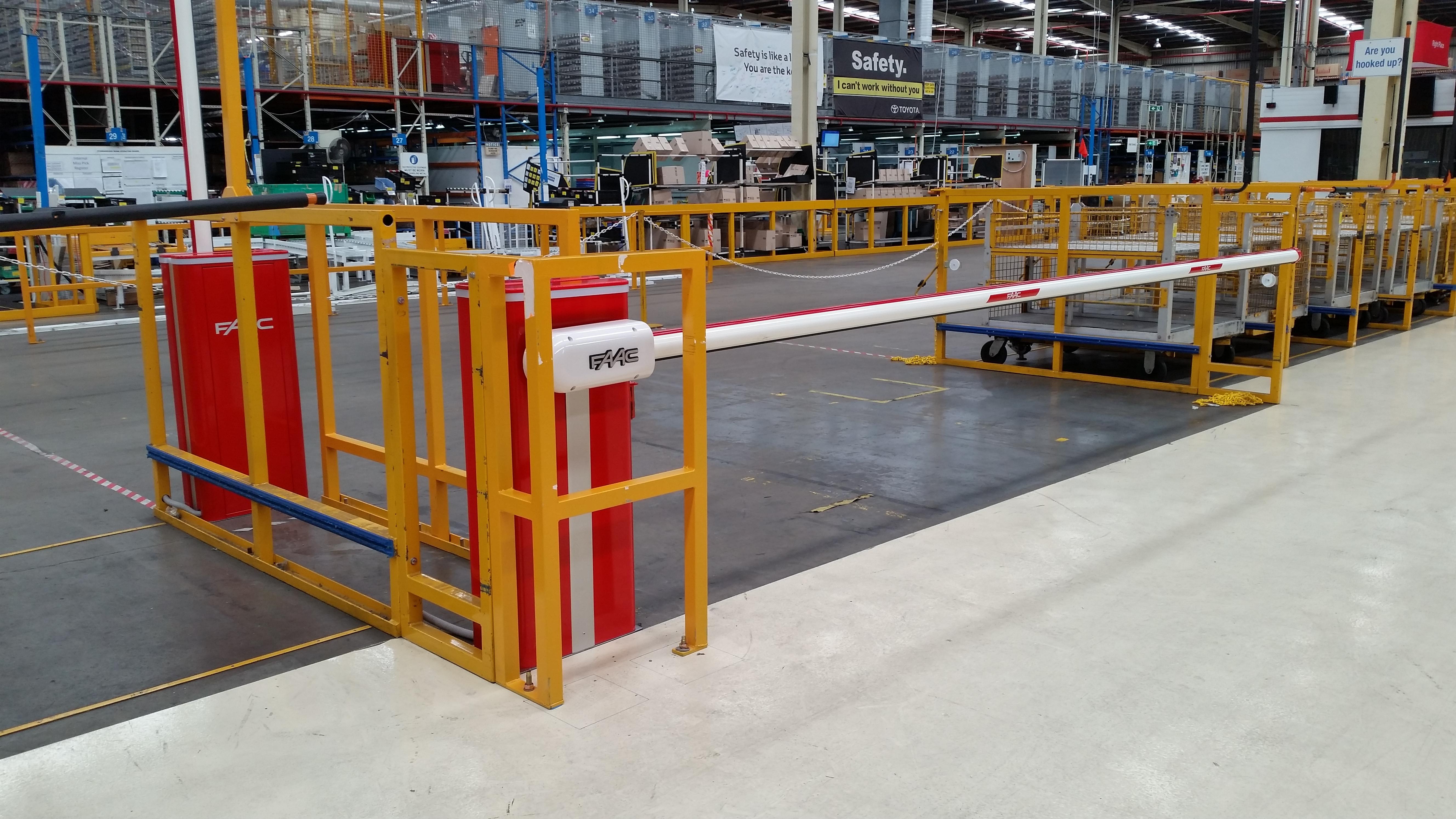 Safety Boom Gates For Car Parts Distribution Center Sydney