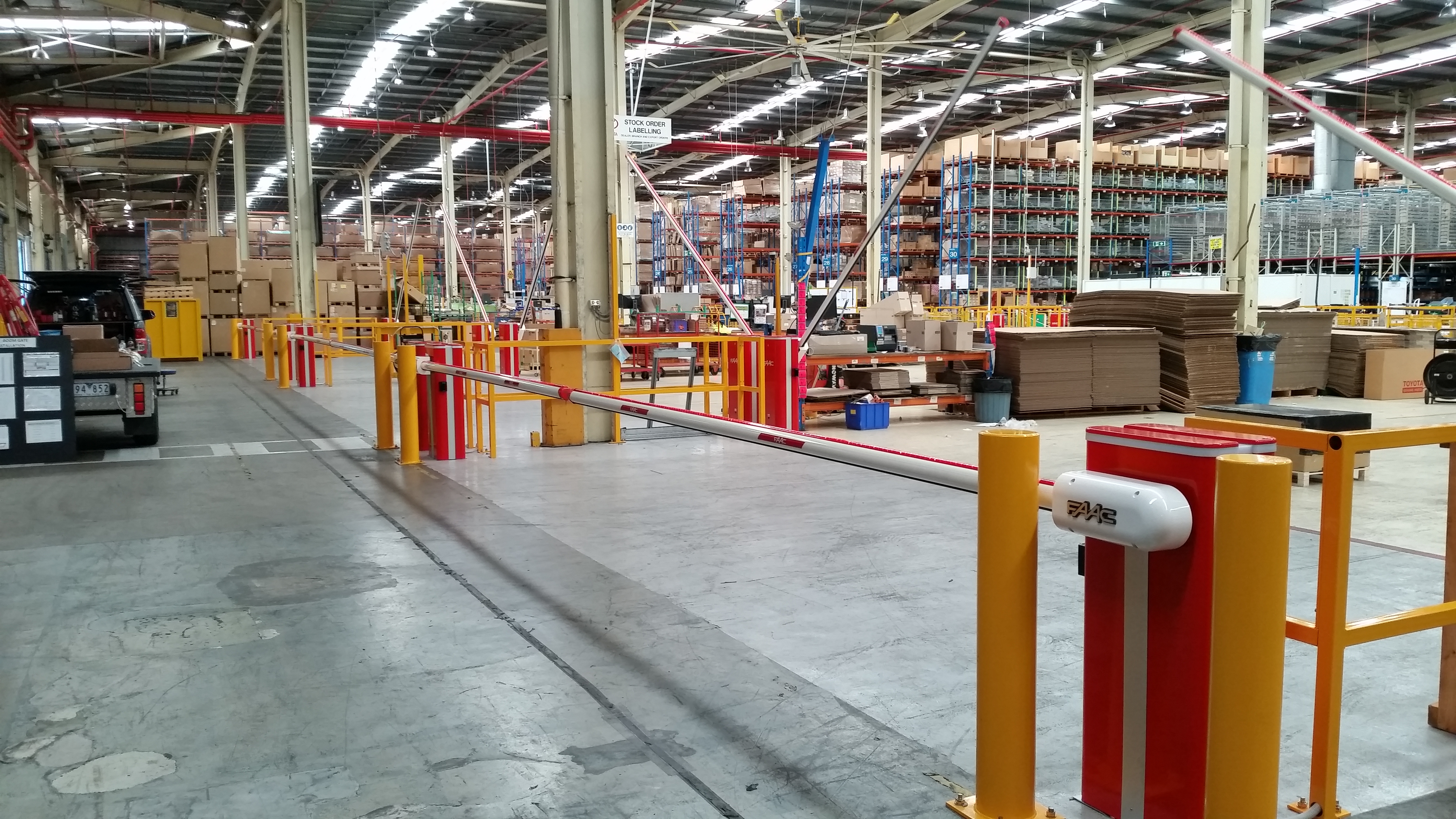 Safety Boom Gates For Car Parts Distribution Center Sydney