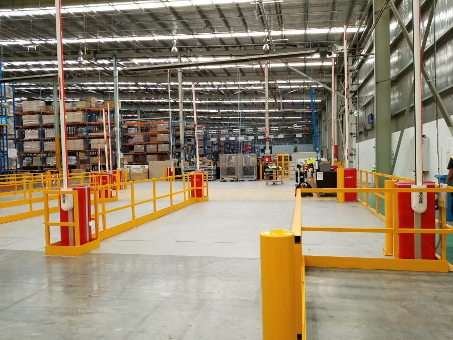 Safety Boom Gates For Car Parts Distribution Center Altona