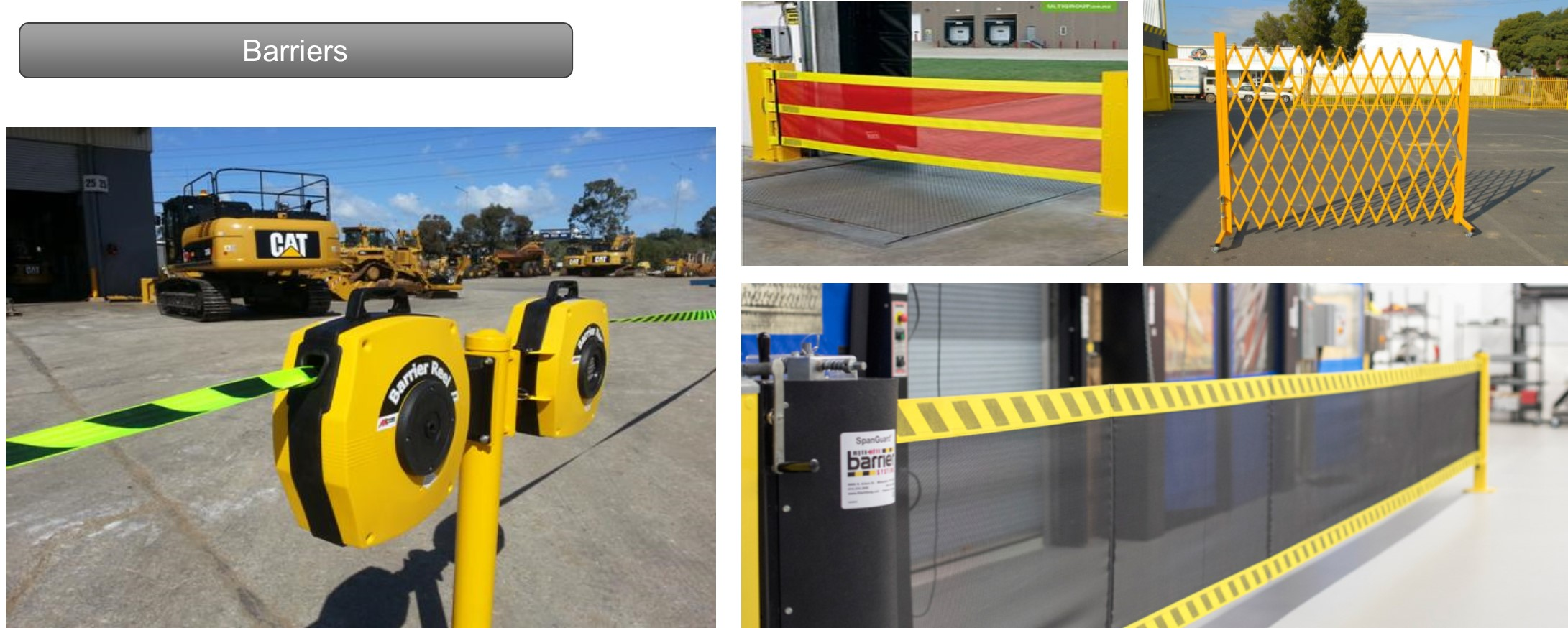 This picture demonstrates a range of barriers we have available for a range of scenarios. Barriers are a great way to restrict access to people in shopping centres or entertainment complexes