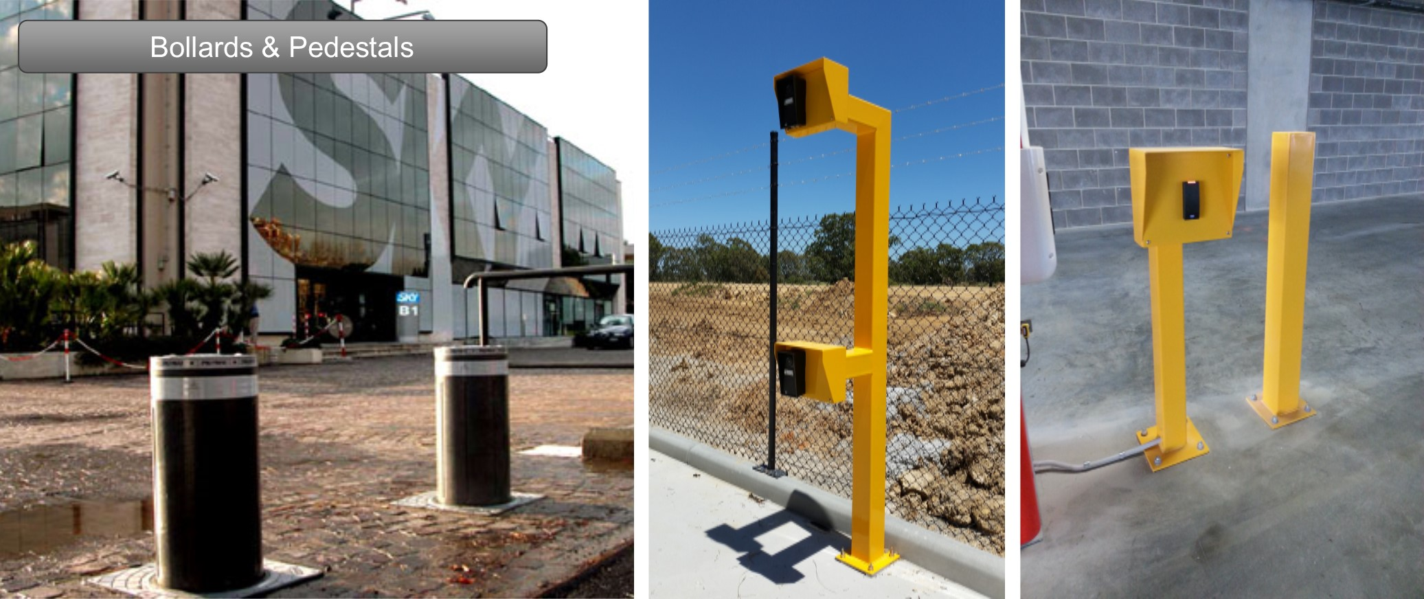 Using elegant and robust designs, Australian Automation bollards are the perfect way to control vehicle access. Depending on your unique situation, you may choose to install fixed, retractable or removable bollards.