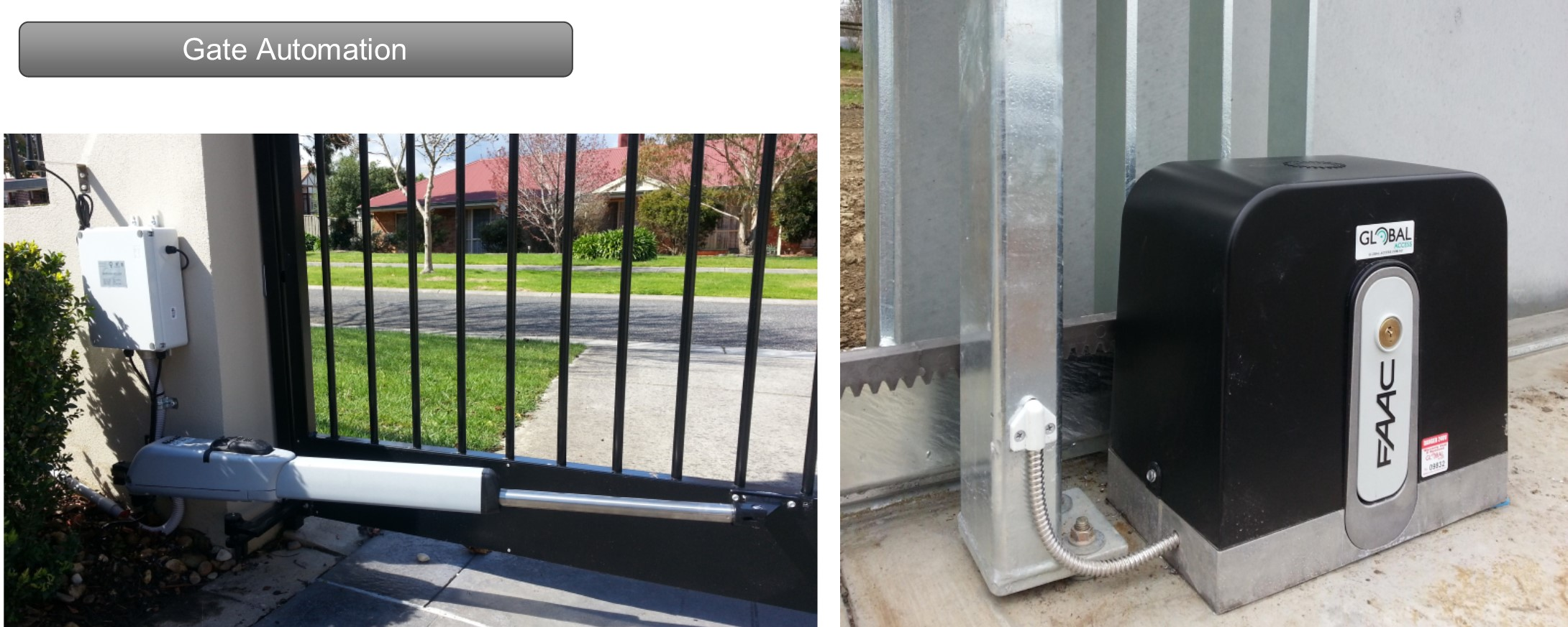 Automatic gatesFrom not having to physically open and close your gate, to securely protecting your property by controlling entry and exits, an automatic gate is the perfect solution for many residential and commercial properties.