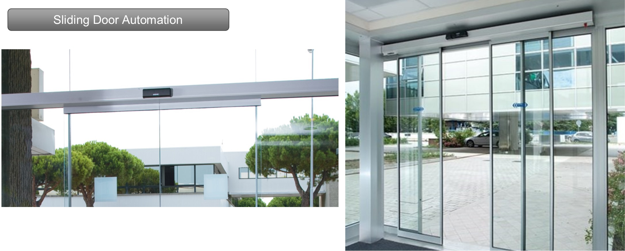 Automatic sliding doors offer a range of benefits. From access control to ease of entry, our attractive designs and innovative technology ensures optimal functionality of your automatic door system.