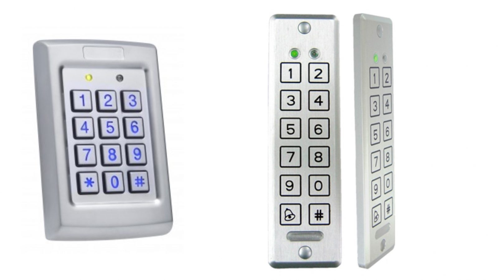 A popular access control option, keypads remove the need to issue multiple cards or fobs to authorized users. With wireless options available, as well as pietzo touch keypads, we have an option to suit your requirements.
